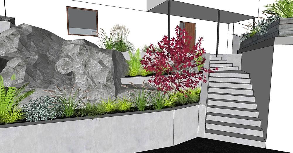Frodig hagedesign har tegnet nytt inngangsparti