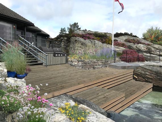Hyttehagen ved sjøen
