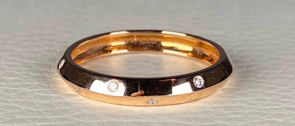 Knife Cut Diamond Ring
