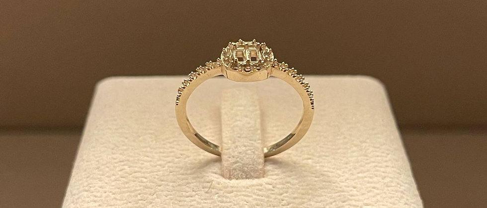 1.82g 18K White Gold Ring Mounting