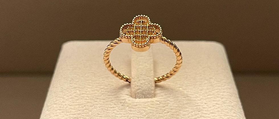 3.09g 18K Rose Gold Ring Mounting