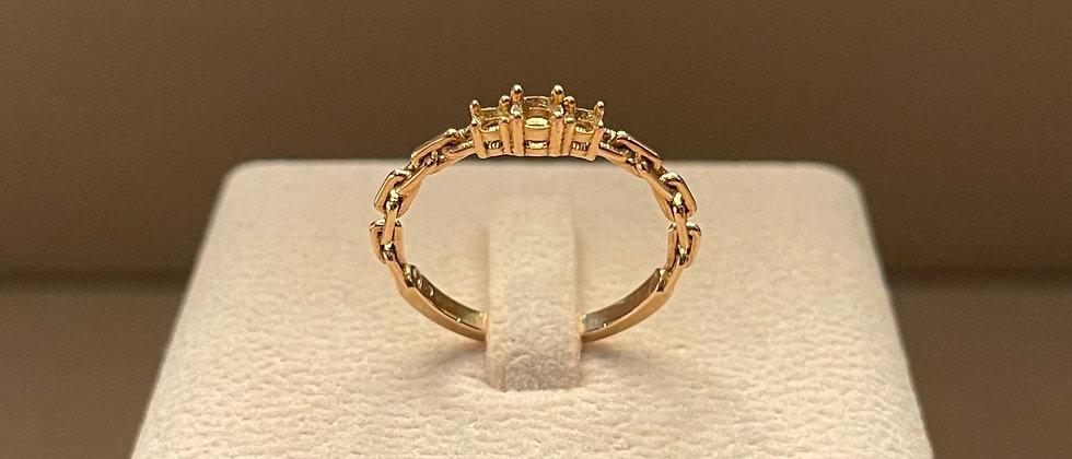2.10g 18K Rose Gold Ring Mounting