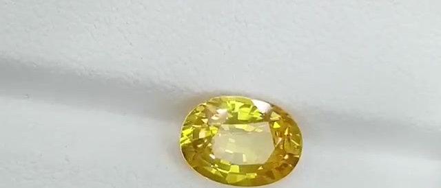 3.68cts Unheated Yellow Sapphire