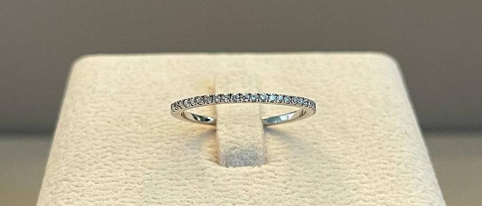 1.32g 14K White Gold Diamond Ring