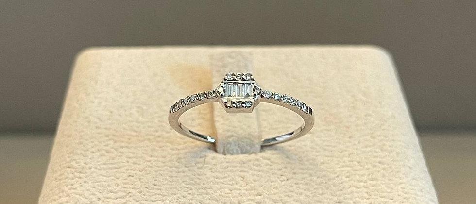 1.26g 14K White Gold Diamond Ring