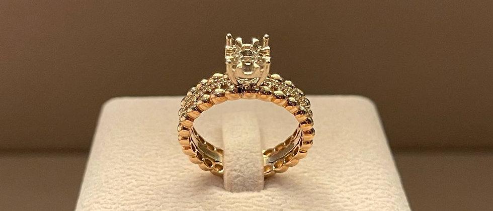 5.91g 18K White Gold Ring Mounting