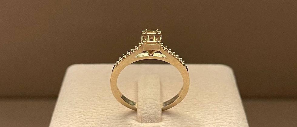 3.04g 18K Rose Gold Ring Mounting