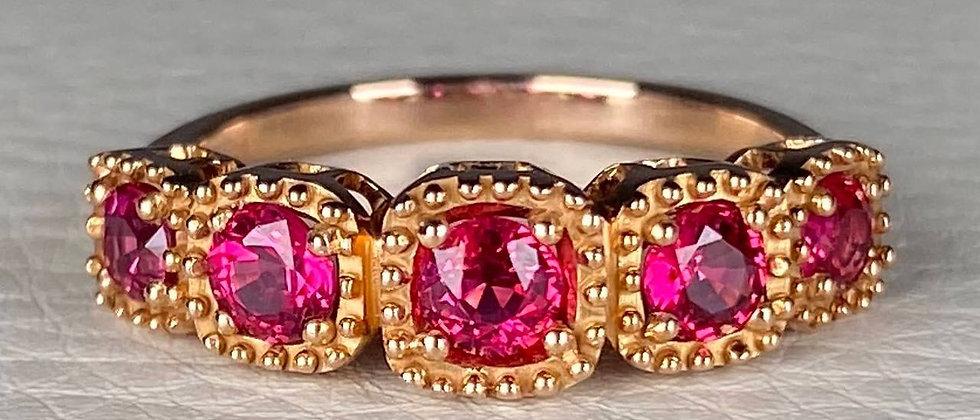 Burmese Red Spinel Ring