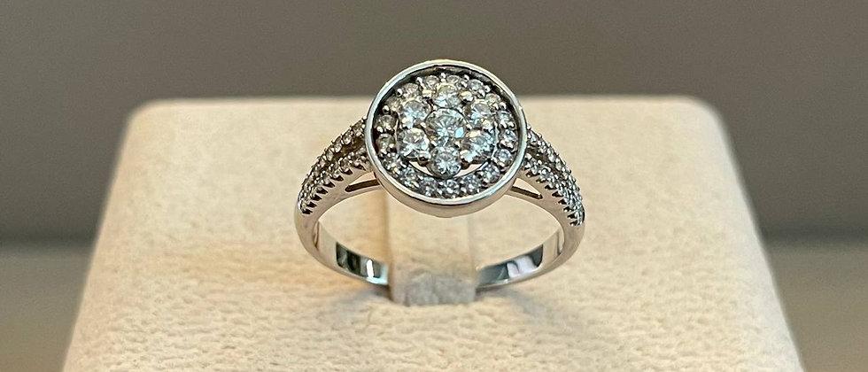 3.47g 18K White Gold Diamond Ring