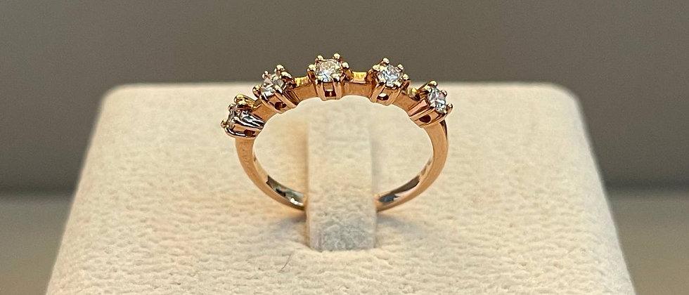 2.10g 14K Rose Gold Diamond Ring