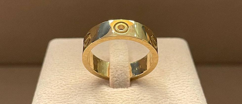 10.45g 18K Yellow Gold Ring Mounting