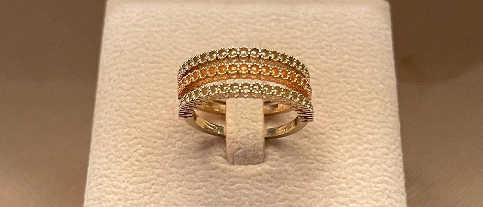 5.68g 18K Rose & White Gold Ring Mounting