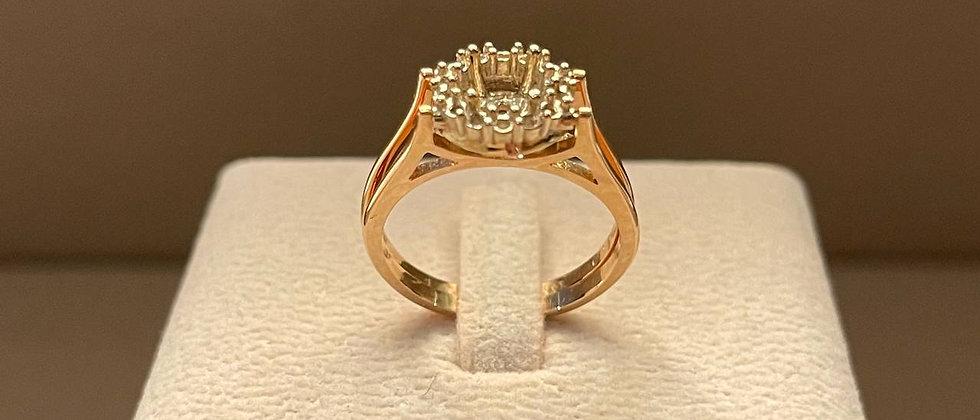 5.17g 18K Rose Gold Ring Mounting