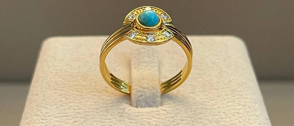 3.70g 18K Yellow Gold Ring