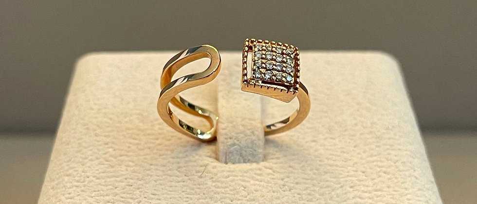 3.09g 18K Rose Gold Diamond Ring
