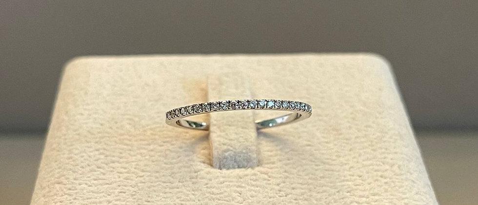 1.05g 14K White Gold Diamond Ring