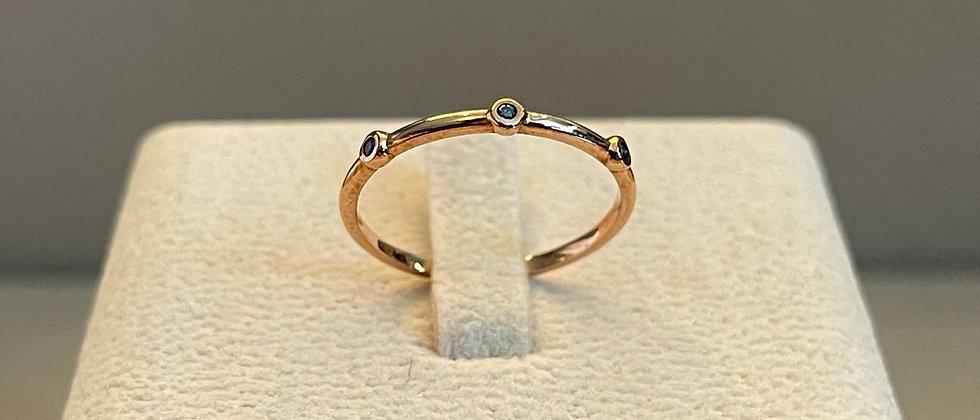 0.966g 14K Rose Gold Ring