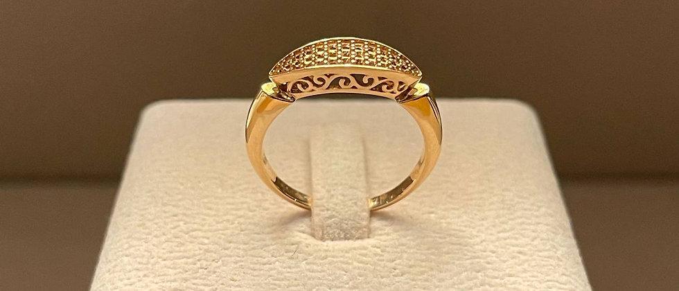 3.33g 18K Rose Gold Ring Mounting