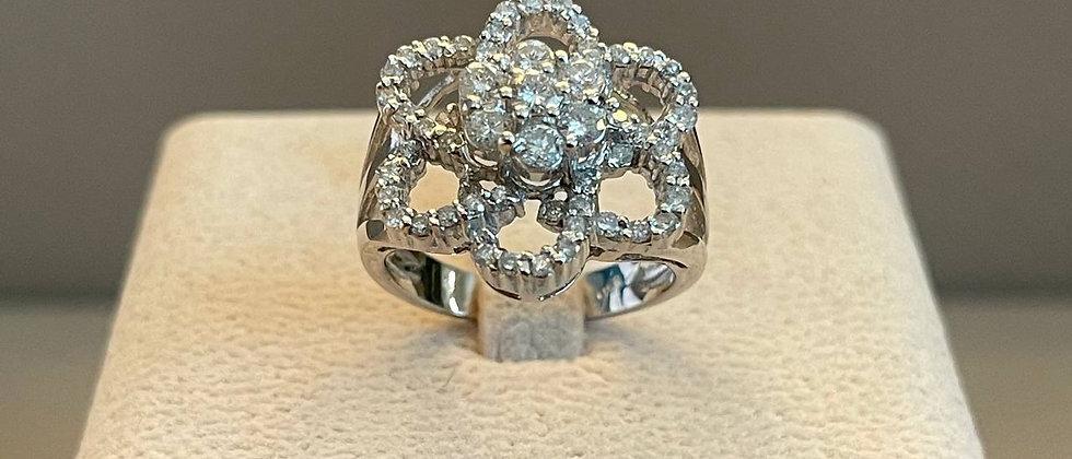 7.09g 14K White Gold Diamond Ring