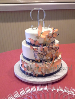 Butterfly wedding cake 2016