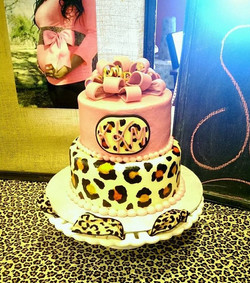 Cheetah print baby shower