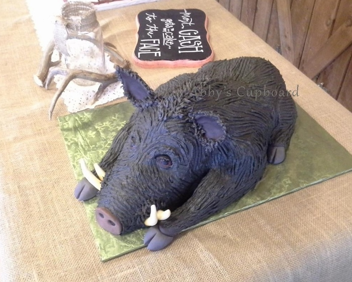 Feral Hog Groom's cake 10_17_15