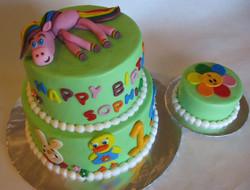 1st Birthday with smash cake 1_12_14