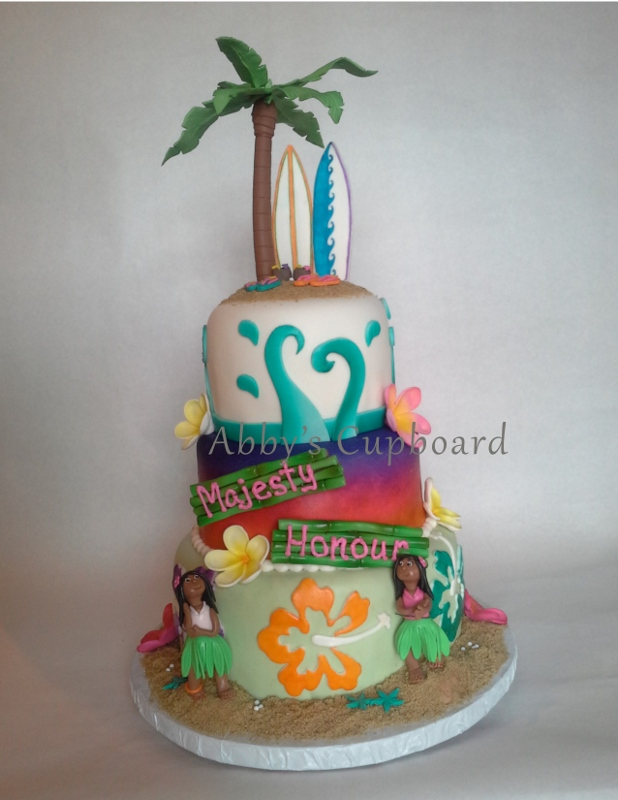 Hawaiian birthday cake8_19_16