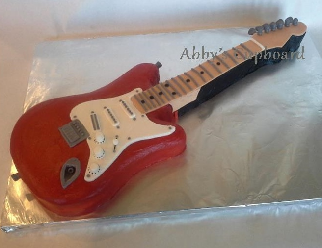 Guitar cake 4_11_14 handcarved