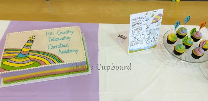Dr. Suess Grad cake 2017