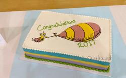 Dr. Suess Grad cake 2017 b