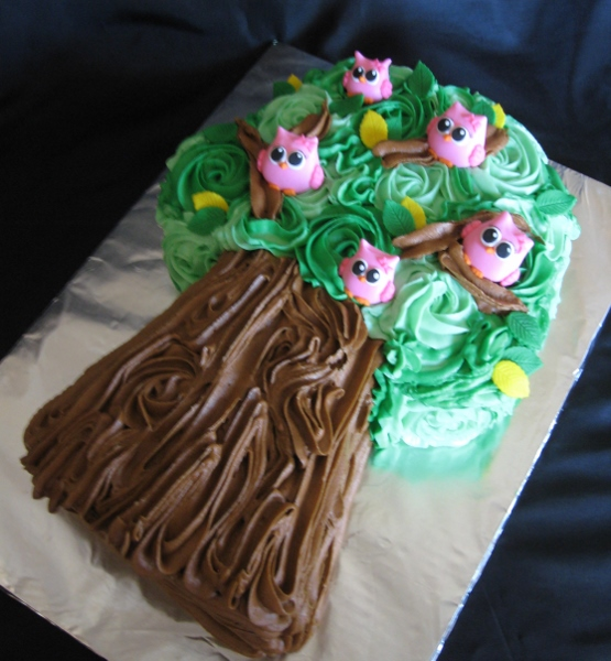 cupcake tree with owls 1_4_14