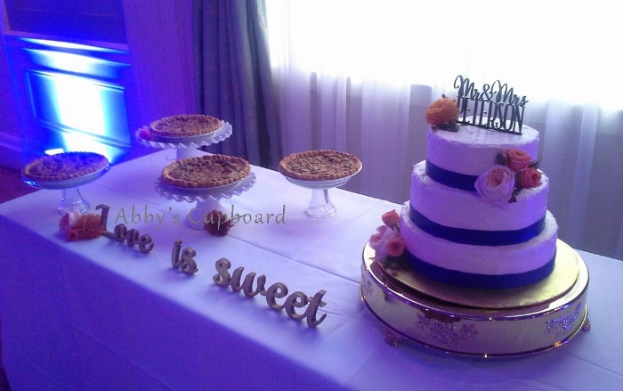 Wedding cake and pies10_24_15