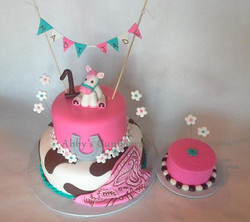 1st birthday cake & smash cake