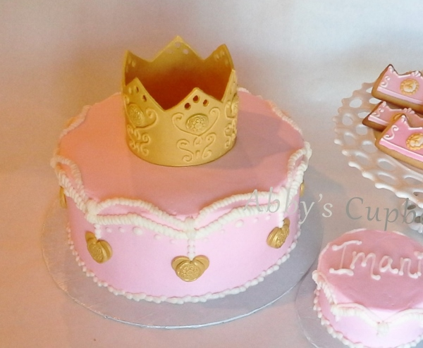 Princess birthday cake and smash cake 11_12_16