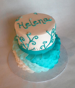 girly 2 tiered cake 2_27_15