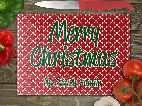 "15""x 11""Family Christmas Cutting Board"