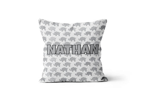 "Elephants 16""x16"" Throw Pillow Cover"
