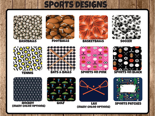 "Sports Designs 8.5""x11"" Sticker"