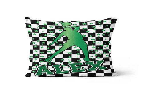 WS Checkered Radial Basketball Pillowcase