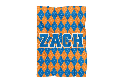 "WS College Colors Argyle Standard Sized Blanket (50""x60"")"