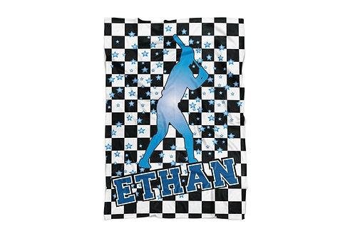 "WS Checkered Radial Baseball X-Large Sized Blanket (60""x80"")"