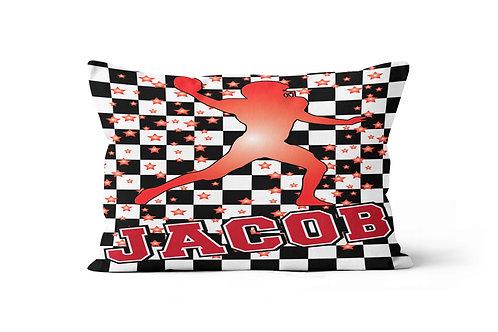 WS Checkered Radial Football Pillowcase