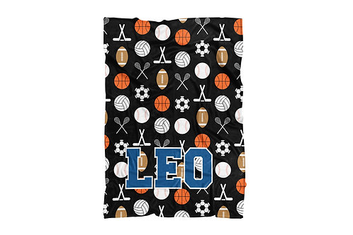 "WS Sports on Black XLarge Size Blanket (60""x80"")"
