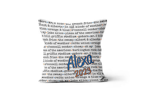"Best of Your College Standard 16""x16"" Throw Pillow Cover"
