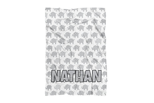 "WS Elephants Baby & Toddler Blanket (30""x40"")"
