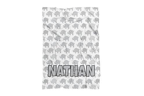 "Elephants Standard Sized Blanket (50""x60"")"