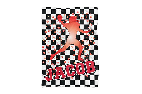 "WS Checkered Radial Football X-Large Sized Blanket (60""x80"")"