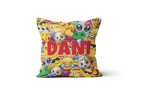 "WS Crazy Emojis 16""x16"" Throw Pillow Cover"