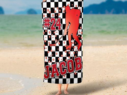 Checkered Radial Hockey Towel
